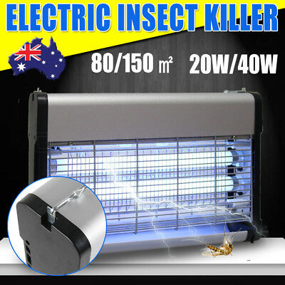 40W/20W Aluminium Alloy Electric Insect Fly Bug Mosquito Zapper Killer UV Lamp