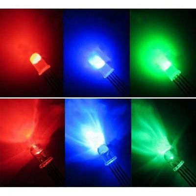Clear Common Cathode/Anode Mist RGB LED 5MM Colorful Lamp Emitting Diode 4 Pins