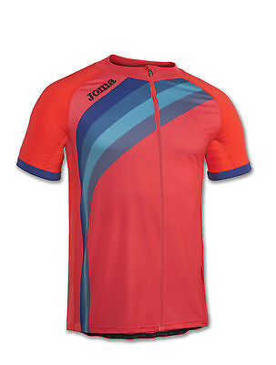 JOMA MAILLOT CYCLING CORAL FLUOR S/S Running MAGLIA TEAM UOMO
