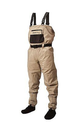 New Daiwa Lightweight Breathable Stockingfoot CHEST WADERS Sizes M/L/XL