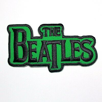 The Beatles UK Rock Music band Green Logo Punk Embroidered Applique Iron Patch
