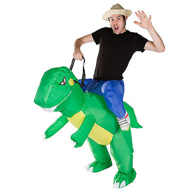Adult Inflatable Dinosaur T Rex Fancy Dress Costume Outfit Suit Halloween Stag