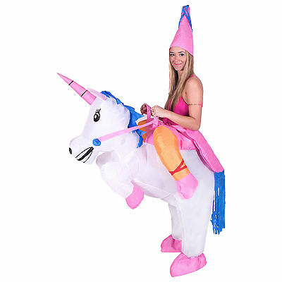 Adult Inflatable Unicorn Fancy Dress Costume Outfit Halloween Hen Party Stag Do
