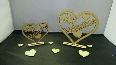 My valentine freestanding Love Tags MDF Wooden valentines Crafts Decor Couples