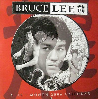 2006 Bruce Lee Calender 16 Month Jeet Kune Do Wing Chun Kung Fu Martial Arts