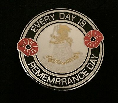 Yorkshire Regiment Lapel Badge, Every Day Is Remembrance Day