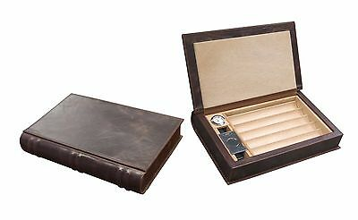 NOVELIST Leather CIGAR HUMIDOR and ACCESSORIES Travel Set - Holds 5-10 Cigars