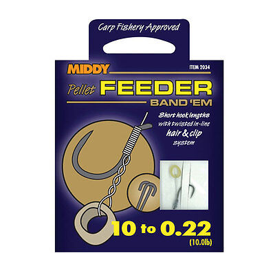 Middy Feeder Band Em Tied Hooks To Nylon, Coarse & Match Rigs, Terminal Tackle
