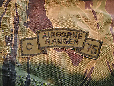 Vietnam Original Airborne Ranger C/75 Subdued Scroll Made In-Country