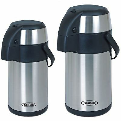 3L/5L Stainless Steel Vacuum Airpot Pump Action Hot & Cold Tea Coffee Jug Flask