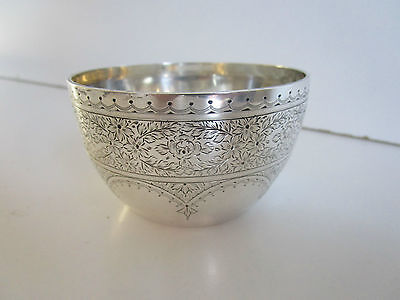 Victorian Sterling Silver Bowl..Bright Cut..Hallmarked Sheffield 1900..