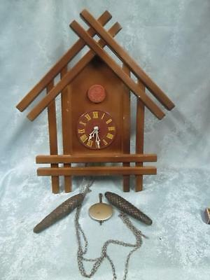 VINTAGE RUSSIAN USSR CUCKOO WALL CLOCK BAKELITE--BEST CHOISE !!__only 30 days!!