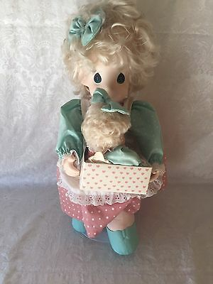 """Vintage 1994 17"""" Precious Moments Doll """"Milli And Her New Baby Doll"""""""