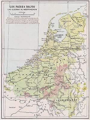 1955 Antique Map of the Netherlands