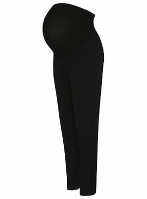 Pregnancy Over Bump Maternity Tapered Stretch Trousers Pants size 8-20 black