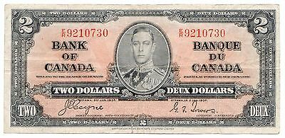Canada P#59c 1937 2 Dollars ($2) Note, George VI [819.04]