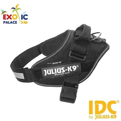 Julius-K9 Idc Powerharness Black Pettorina Nera Per Cane In Nylon Resistente Dog