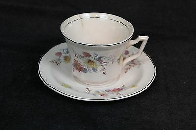 Edwin M Knowles Tea Cup and Saucer Set