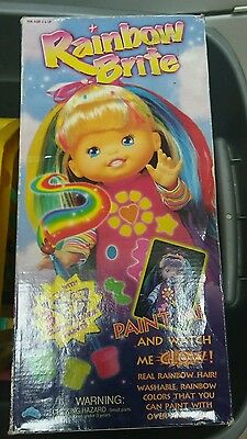 "Up Up & Away Rainbow Brite Color Glow Glo in the dark paint 15"" Doll"