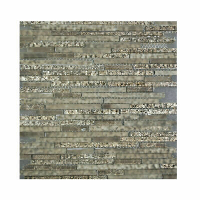 300*300mm Mosaic Tiles Mushroom Grey Stone Glass Kitchen Bathroom Wall