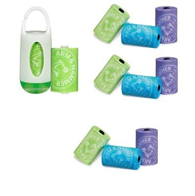Arm & Hammer Diaper Nappy Disposal Bag Dispenser + 36 Refills x 3