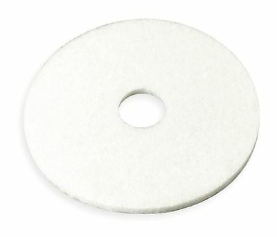 3M 20 In. White Buffing and Cleaning Pad, Non-Woven Polyester Fiber, 5 PK - 4100