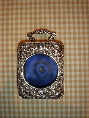ULTRARARE Antique Clock Traveller Case Sterling Silver 1890 Snyder Beddoes Watch