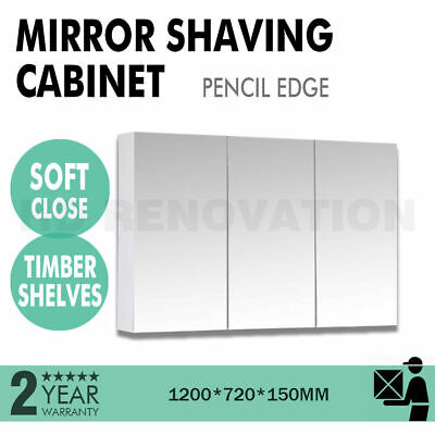 1200*720*150mm Pencil edge mirror shaving cabinet with 2 doors