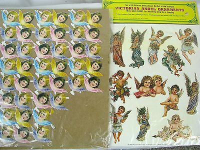 Lot Victorian Style Die Cut Paper Angels Christmas Ornaments Craft Decor