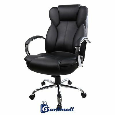 Black Swivel PU Leather High Back Executive Office Desk Task Computer Chair