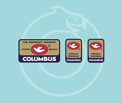 Columbus SL Frame and Fork Water Slide Decal Set Autocollants Transfers