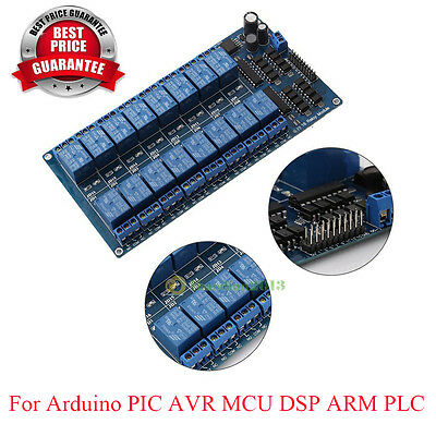 New 16-Channel 5V12V Relay Module Board For Arduino PIC AVR MCU DSP ARM PLC
