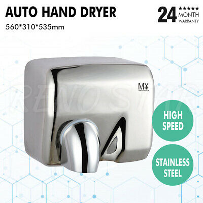 Commercial Grade Bathroom Wall Mounted Power Saver Automatic Hand Dryer 2300W