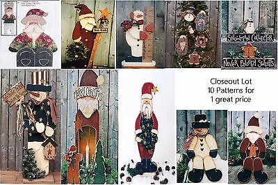 LG LOT OF 10 Christmas / Winter/ Snowman  Wood Patterns Closeout Sale LOT #12
