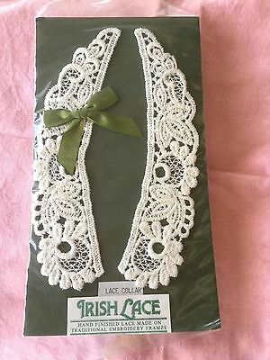 Vintage Irish lace collar in original package hand finished Co. Cork Ireland