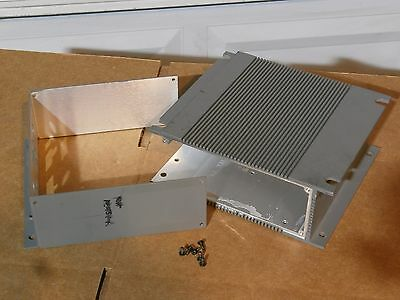 Lot of 4 Sets Aluminum Heat Sink Project Box Enclosures, Dimensions on Pictures