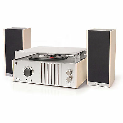 Crosley Player II Turntable with full range stereo speakers - Natural