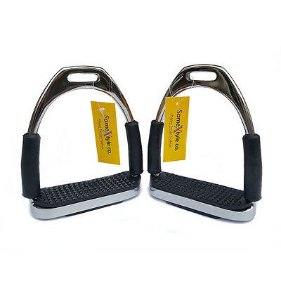 """SameXtyle Horse Riding Flexible Safety Bendy Stirrups Stainless Steel 4.75"""""""