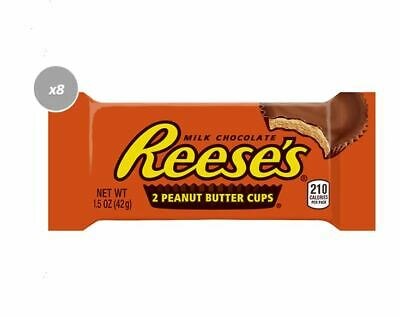 900688 10 x 42g PACKETS OF REESE'S MILK CHOCOLATE 2 PEANUT BUTTER CUPS! - U.S.A.