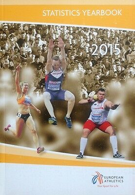 2015 Statistics Yearbook European Athletics 544 Pages Booklet