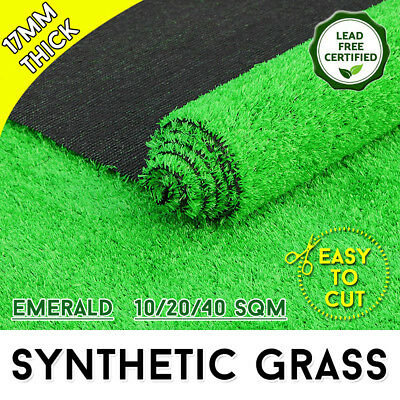10-40 SQM Artificial Grass Synthetic Turf Plastic Plant Fake Lawn Flooring 17mm