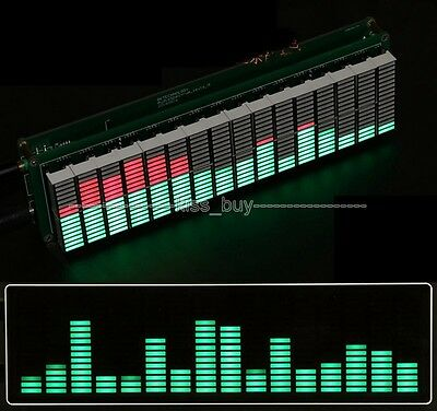 16*16 Audio LED Level Meter Display Spectrum Analyzer mp3 for Amplifier Kits