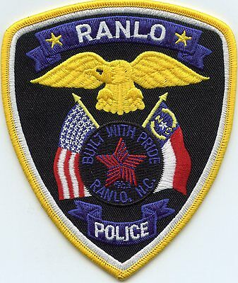 Ranlo North Carolina Nc Police Patch