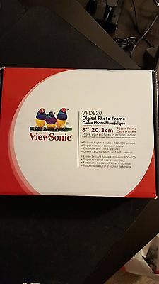 viewsonic vfd820 50 led white digital photo accent frame 8 203