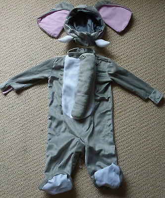 NEW Noah's Ark Collection Elephant Cub Baby Costume Dress Up Size 18-36 Months