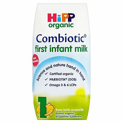 6 Packs of Hipp Organic Combiotic First Infant Milk 1 from Birth Onwards 200ml