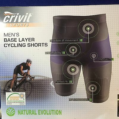 Crivit Sport Mens Base Layer Cycling Shorts - Size Large NEW In Box
