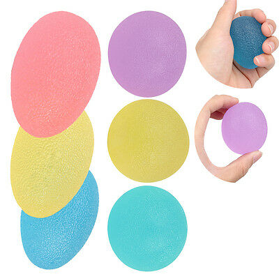 3pcs Egg Stressball Hand Finger Exercise Therapy Stress Relief Ball Mood Squeeze