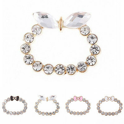 NEW Shiny Rhinestone Bow DIY Phone Accessories Alloy Lens for iPhone 5/6/6s