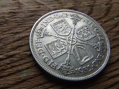George V.   1932,  Silver Florin.   Rare Date.     Excellent Condition.